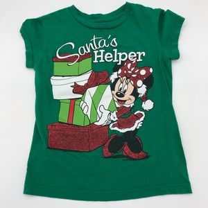 Disney Minnie Mouse Christmas Santa Shirt